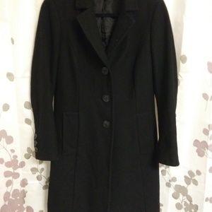 Stile Benetton black wool long coat